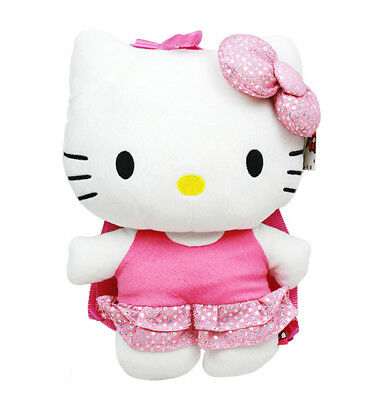 Hello Kitty Sequin Plush Backpack, NEW for Kids Girls Sanrio Pink White (Hello Kitty Backpacks For Girls)