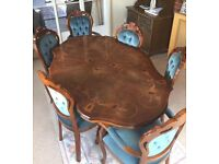 Italian dining table with 6 chairs - excellent condition - used few times // free delivery