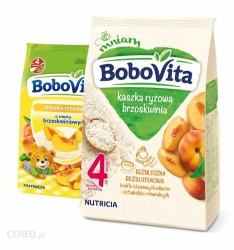 Nutricia Aptamil BoboVITA Rice cereal porridge: PEACH 4 months on FREE SHIP