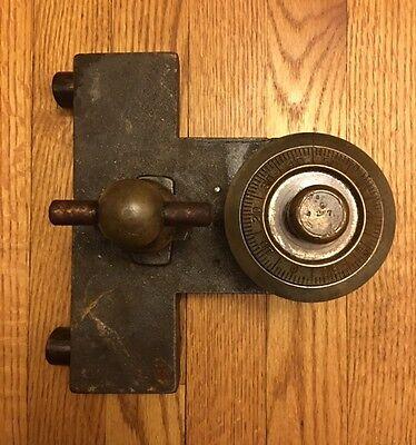 Antique Complete Safe 4# Combination Dial, Bolts, & Handle