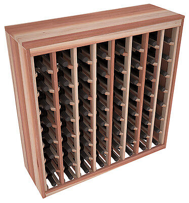 64 Bottle Premium Redwood Cabinet-Style Wine Rack Kit. Hand Crafted in the USA.