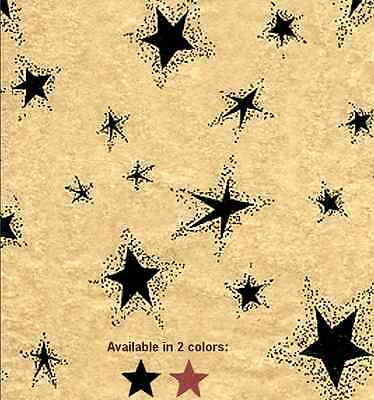 Primitive Black or Red Star Gift Wrap Tissue Paper- You choose color