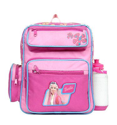 Barbie Blue/Pink Small Backpack/School Book Bag for Kids w Free Water - Barbie Book Bag