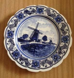 Genuine Delft blue and white china plate