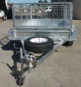 8x5 Hot Dipped Galvanized Trailer With Cage & Spare Wheel Gympie Gympie Area Preview