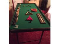 Snooker Table 6ft x 3ft plus accessories