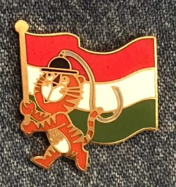 Seoul 1988 Olympic Pin Hungary Country Flag Mascot Hodori By HoHo NYC - $5.00