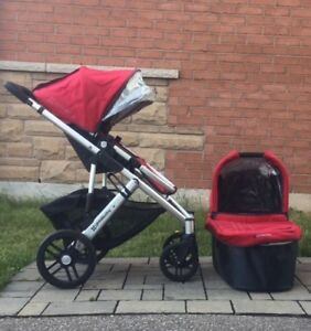 Uppa Baby Vista Stroller with Bassinet and Accessories
