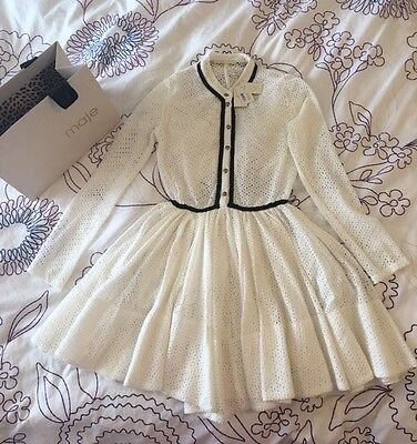 maje, maje dress, maje rayane dress, white lace dress