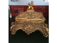 Gold Ornate (storage/jewellery) Box