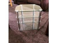 Glass Corner Table.