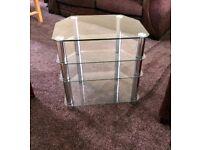Glass Corner T:V: Unit Table
