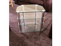Glass Corner Table