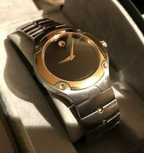 MONTRE HOMME MOVADO SPORT EDITION. OR 18K PLAQUÉ ET STAINLESS