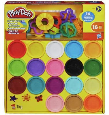 Play-Doh Super Colour Kit 18 Colours Creative Gift For Kids.