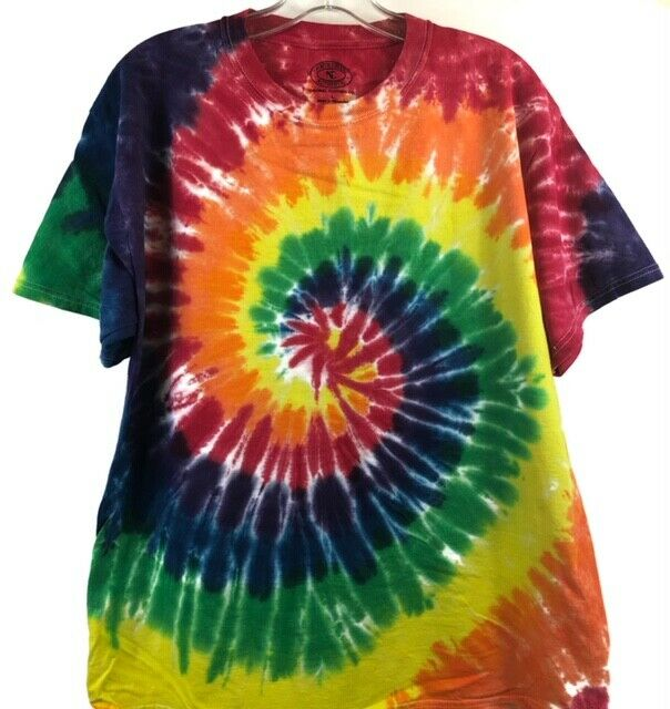 Tie Dye Rainbow Swirl Tee Clothing, Shoes & Accessories