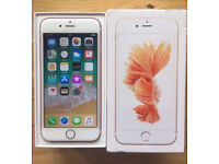 MINT CONDITION Apple iPhone 6S Rose Gold 16GB UNLOCKED ANY NETWORK In Box+ BRAND NEW Extras