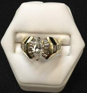 2.25ct. tw. Diamond Marquis Solitaire in 18 k gold
