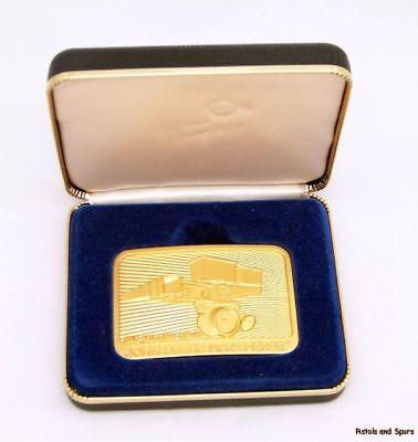 Vintage Limited Ed John Deere Belt Buckle Gold Planter
