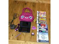 Nintendo DS lite with games, carrier & headphones