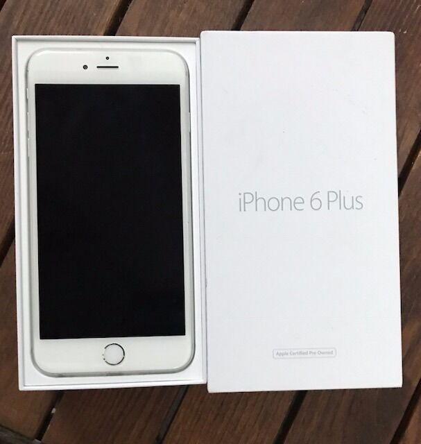 iphone 6 silver box. iphone 6 plus 64gb silver gsm with original box (no charger) - very good iphone 1