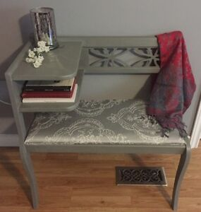 Restyled Vintage /Antique Telephone Table/Gossip Bench