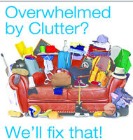 Overwhelmed by Clutter & Junk?  We'll Fix That!
