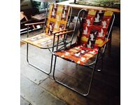 Pair Of Retro Fold Up Chairs
