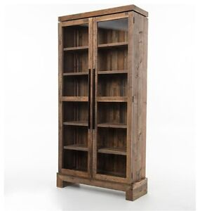 Solid reclaimed wood bookcase or display cabinet - paid $2100