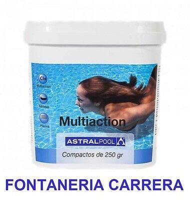 PACK 3 Cloro de piscina multiaccion AstralPool Multifuncion 5kg, tabletas 250g