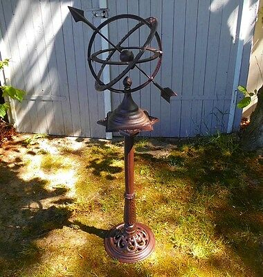 Large English Sundial 1,12m Count Only Sunny Hours Antique Style Garden NEW