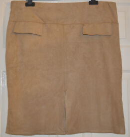 BNWT Womens Ladies sexy beige stone suede Skirt size 20 NEW from ATMOSPHERE XL