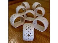 Hartley Greens Leeds Pierced Creamware Napkin Rings - Set of 8- New never used. Or 2 x sets of 4