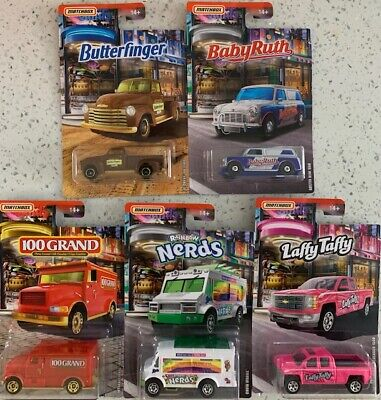 Matchbox 2019 Candy Theme Series Set of 5 Toy Cars, Vehicles NEW (1004)