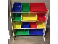 KidKraft Wooden Children's Storage Unit Shelves Boxes - 1 Year Old!