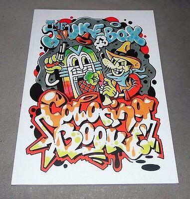 "Graffiti Coloring-Buch ""JUKEBOX COWBOYS"" Graffiti Illustration Montana Belton"