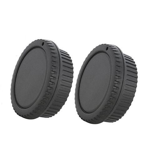 "2 x Rear Lens Cover + Camera Body Cap for Canon DSLR SLR Lens ""US Shipping"""