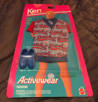 BARBIE Doll KEN Activewear Fashions BASEBALL OUTFIT Clothes 1993 MATTEL #68040