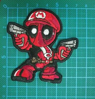 Super Mario Deadpool Guns 2A Morale Nintendo VELCRO® BRAND Hook Fastener Patch