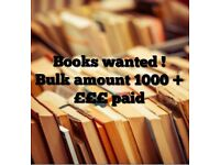 BOOKS WANTED FOR CASH