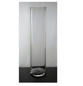 1 Clear Glass Vases Cylinder Wedding Event  Function Party Decoration 20CM TALL