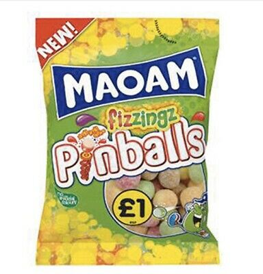 Maoam Fizzingz Pinballs - Full Box of 12 x 160g bags - FREE POSTAGE