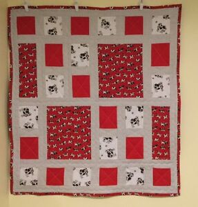 CHILDS QUILT - RED COWS London Ontario image 1