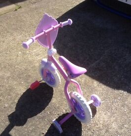 Girls Disney Princess 10 inch Training Bike