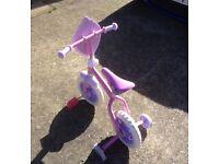 Girls Disney Princess 10 inch Training Bike