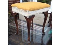 Dressing table stool - upholstering project