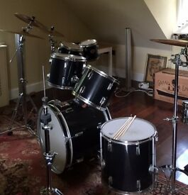Drum Kit and selection of cymbals, high hats