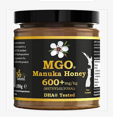 MANUKA HONEY 600+ MGO(17 UMF)250g 100% PURE NEW ZEALAND BEST 4 COLD & FLU (SIDR)