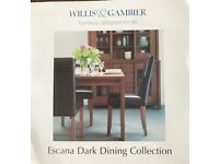 Solid Oak Dining Furniture with a dark chocolate stain