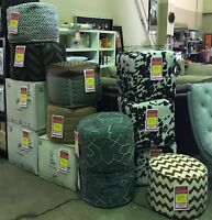 A Variety of Pouf Ottomans - Up To a 75% Savings Red Deer Alberta Preview